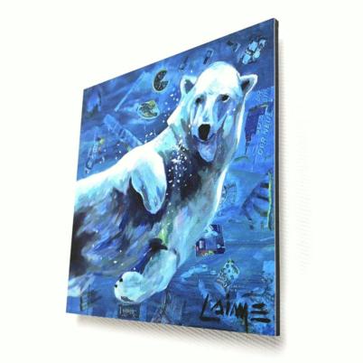 Mini Ice bear artprint 10x10cm