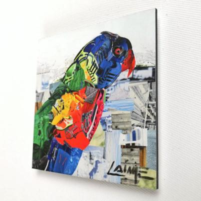 Rainbow macaw artprint mini 10x10