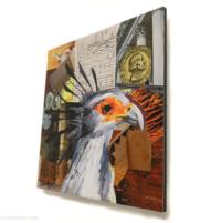 secretary bird mini print 10x10cm