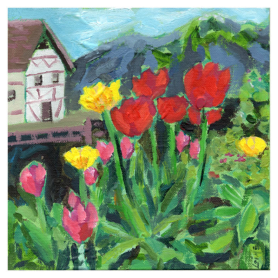 Mrs Grimms flowers painting02
