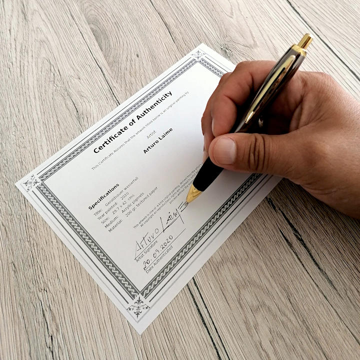 Example certificate authenticity