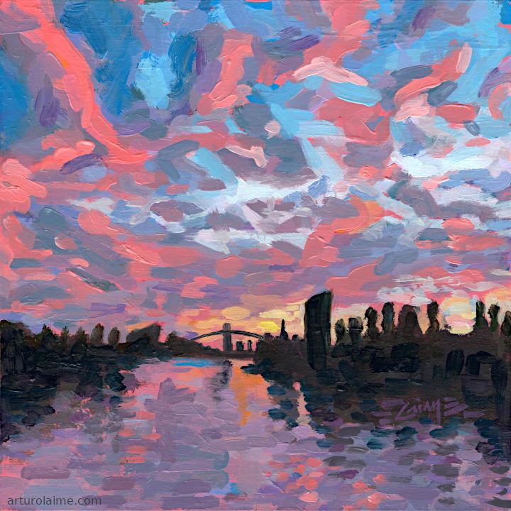Main River at dusk