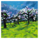 Apple trees blossoming artwork 720px