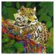 Jaguar mixed media artwork