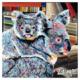 Koalas mixed media artwork