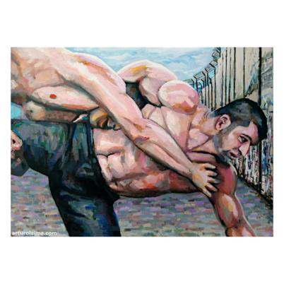 Fight at the wall artwork 840pxprov